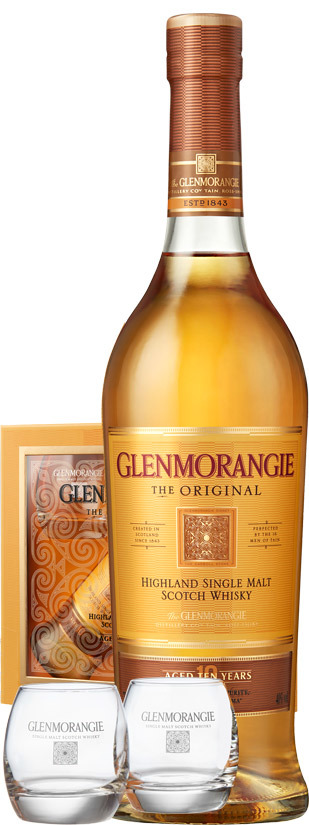 Glenmorangie, The Original 10 Años + 2 Vasos
